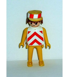 FIGURINE PLAYMOBIL RETRO - TRAVAUX PUBLIC  N° 216 (7x3cm)