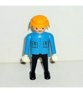 FIGURINE PLAYMOBIL - TENUE BLEU  N° 211