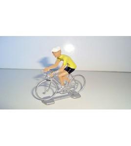 ANCIEN COUREUR CYCLISTE ANNEE 70 80 - MAILLOT JAUNE TOUR DE FRANCE (6x6cm)