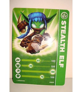 CARTE FIGURINE FIGURE JEUX VIDEO SKYLANDERS - STEALTH ELF