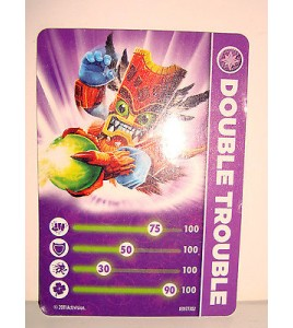 CARTE FIGURINE FIGURE JEUX VIDEO SKYLANDERS - DOUBLE TROUBLE