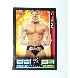 CARTE DE CATCH SLAM ATTAX RAW BATISTA