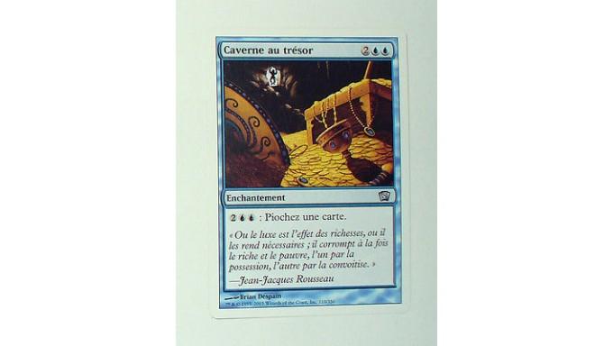 Carte Au Tresor Magic.Carte Mtg Magic Version Francaise Caverne Au Tresor