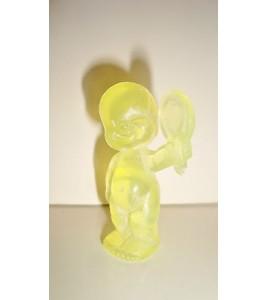 FIGURINE LES BABIES TRANSLUCIDE JAUNE (5x4cm)