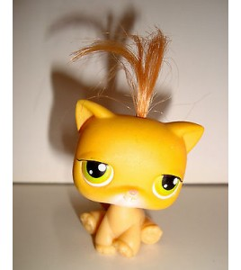 FIGURINE PET SHOP LITTLEST PET SHOP - CHAT CAT GATO  ROUX A HOUPETTE
