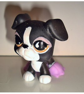 FIGURINE PET SHOP LITTLEST PET SHOP - CHIEN NOIR BLACK DOG PERO