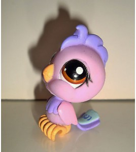 FIGURINE PET SHOP LITTLEST PET SHOP - OISEAU BIRD CACAOTES MAUVE