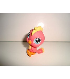 FIGURINE PET SHOP LITTLEST PET SHOP - OISEAU CACAOTES PINK BIRD