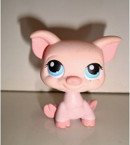 FIGURINE PET SHOP LITTLEST PET SHOP - COCHON PIG