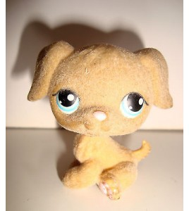 FIGURINE PET SHOP LITTLEST PET SHOP - CHIEN EN FEUTRINE MARRON DOG  PERO