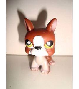 FIGURINE PET SHOP LITTLEST PET SHOP - CHIEN DOG PERO MARRON BLANC