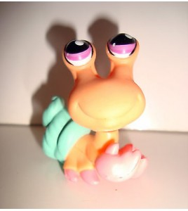 FIGURINE PET SHOP LITTLEST PET SHOP - BERNARD L HERMITTE ORANGE