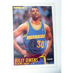 CARTE  NBA BASKET BALL 1995  PLAYER CARDS BILLY OWENS (122)