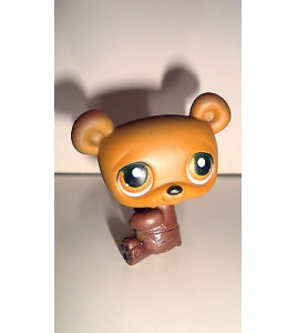 FIGURINE PET SHOP LITTLEST PET SHOP -  OUR OURSON BEAR BRUN