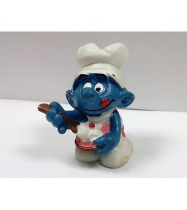 FIGURINE COLLECTION SCHTROUMPF SMURF PUFFI SCHLUMPF SCHLEICH 1982 GOURMAND 2.016