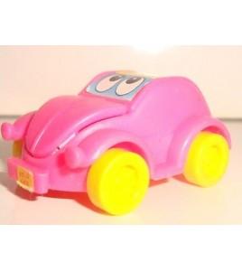 VEHICULE KINDER N°334 VOITURE ROSE PINK CAR (4x2,5cm)