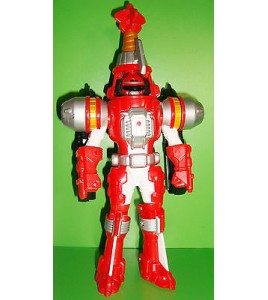FIGURINE POWER RANGERS SENTEI - FORCE ROUGE BANDAI 2006 (24x11cm)
