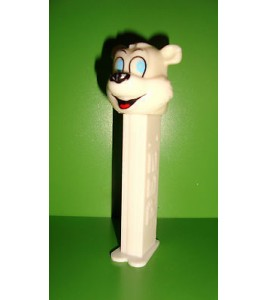 FIGURINE PEZ - US PATENT 4.966.305 HUNGARY - OURS BLANC WHITE BEAR