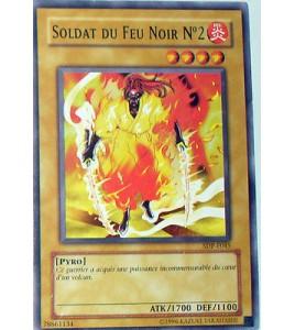 CARTE YU-GI-OH! SOLDAT DU FEU NOIR N°2 -SDP-F045