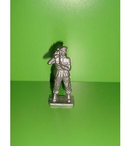 FIGURINE EN PLASTIQUE MONOCHROME SOLDAT U.S  ANNEE 70-80 N°93 (6x2cm)