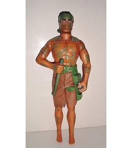 POUPEE MANNEQUIN ACTION MAN ARTICULE - INDIEN AVEC SARBACANE (28x12cm)