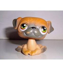 FIGURINE PETSHOP LITTLEST PET SHOP CHIEN DOG  PERO BOULEDOGUE