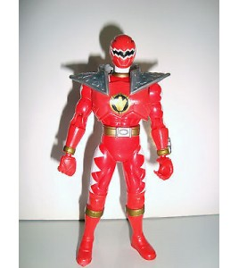 FIGURINE SENTEI POWER RANGER FORCE ROUGE BANDAI 2003 ARTICULE (14x7cm)