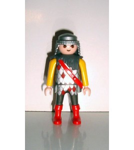 FIGURINE PLAYMOBIL N°167 - CHEVALIER MECHANT (7x4cm)