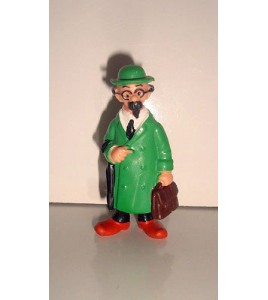 ANCIENNE FIGURINE TINTIN - LE PROFESSEUR TOURNESOL BULLY PVC  (6x2,5cm)