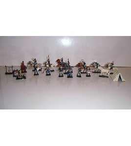 ENSEMBLE SOLDAT MINIATURE CAVALERIE SUDISTE GUERRE DE SECESSION 1863 19 PIECES