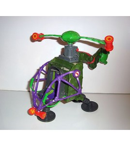 RARE VEHICULE TORTUES NINJA TMNT HELICOPTERE (18x20cm)