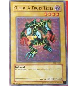 CARTE YU-GI-OH!  GEEDO A TROIS TETES SDP-F002