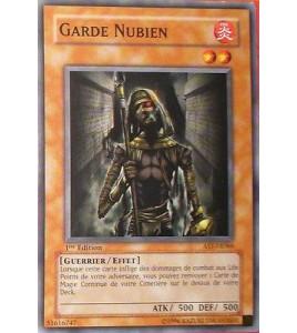 CARTE YU-GI-OH!  GARDE NUBIEN 1ERE EDITION AST-FR066
