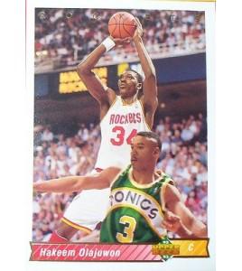 CARTE  NBA BASKET BALL 1993  PLAYER CARDS HAKEEM OLAJUWON (168)