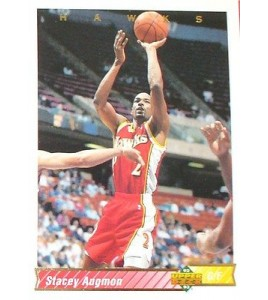 CARTE  NBA BASKET BALL 1993  PLAYER CARDS STACEY AUGMON (91)