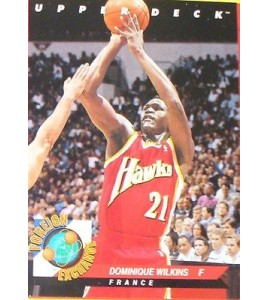 CARTE  NBA BASKET BALL 1993  FOREIGN EXCHANGE DOMINIQUE WILKINS (85)