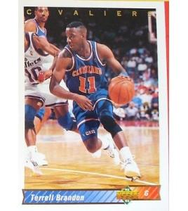 CARTE  NBA BASKET BALL 1993  PLAYER CARDS TERRELL BRANDON (124)