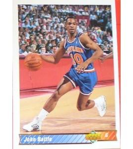 CARTE  NBA BASKET BALL 1993  PLAYER CARDS JOHN BATTLE (123)