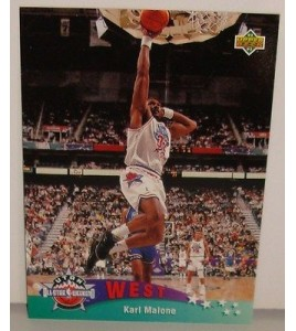 CARTE DE COLLECTION NBA BASKET BALL 1993  WEST ALL STARS KARL MALONE (14)