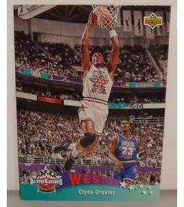 CARTE DE COLLECTION NBA BASKET BALL 1993  WEST ALL STARS CLYDE DREXLER (18)