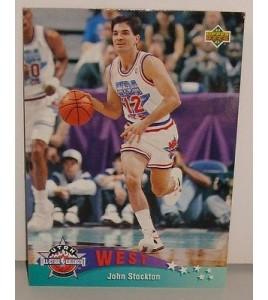 CARTE DE COLLECTION NBA BASKET BALL 1993  WEST ALL STARS JOHN STOCKTON (17)