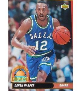 CARTE DE COLLECTION NBA BASKET BALL 1993  ALL DIVISION TEAM DEREK HARPER (49)