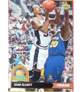 CARTE DE COLLECTION NBA BASKET BALL 1993  ALL DIVISION TEAM SEAN ELLIOTT (47)