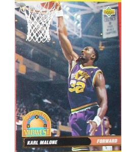 CARTE DE COLLECTION NBA BASKET BALL 1993  ALL DIVISION TEAM KARL MALONE (46)