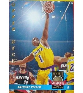 CARTE DE COLLECTION NBA BASKET BALL 1993  ROOKIES STANDOUTS ANTHONY PEELER (62)