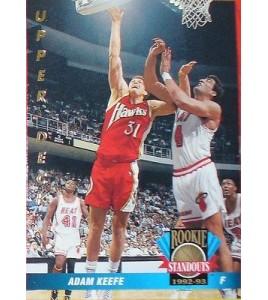 CARTE DE COLLECTION NBA BASKET BALL 1993  ROOKIES STANDOUTS ADAM KEEFE (55)