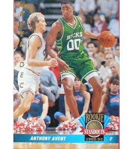 CARTE DE COLLECTION NBA BASKET BALL 1993  ROOKIES STANDOUTS ANTHONY AVENT (64)