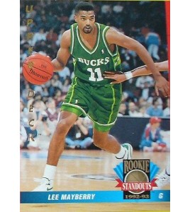 CARTE DE COLLECTION NBA BASKET BALL 1993  ROOKIES STANDOUTS LEE MAYBERRY (66)