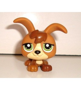 FIGURINE PETSHOP LITTLEST PET SHOP CHIEN DOG A GRANDES OREILLES N°2