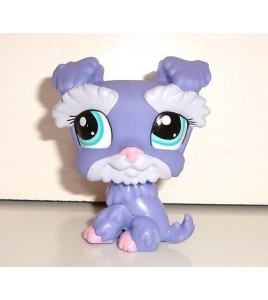 FIGURINE PETSHOP LITTLEST PET SHOP CHIEN VIOLET DOG PERO